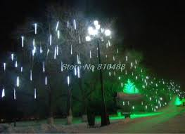 christmas lights that look like snow falling meteor shower falling star rain drop icicle snow fall led xmas tree