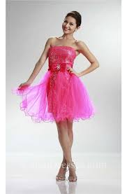 cute strapless short pink sequin prom dress with detachable