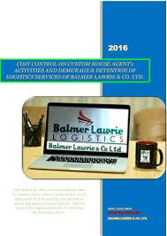 cost control on custom house agent u0027s activities and demurage u0026 detent u2026