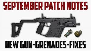 pubg patch notes pubg september patch notes mini 14 grenades fixes recap