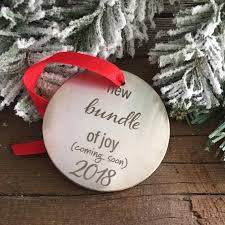 new bundle of pregnancy announcement ornament