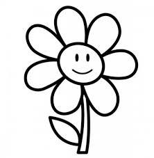 simple flower color pages u2013 color bros