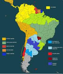Colombian Map Miranda U0027s Dream Por Una Latino América Fuerte A Gran Colombia