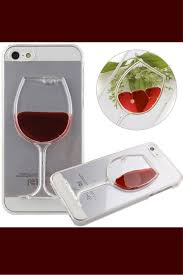 cool wine glass phone case with moving liquid available for most