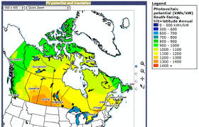 map of canada canada solar resources map www renewable energy concepts