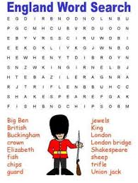 england themed word search puzzles pinterest word search