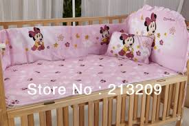 Minnie Crib Bedding Set Minnie Mouse Crib Bedding Set For Baby Personalizable Style