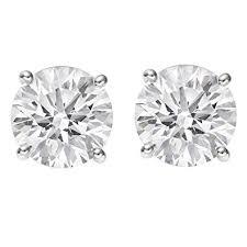 push back earrings 1 2 0 5 carat certified diamond stud