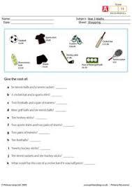 primaryleap co uk shopping worksheet shopping pinterest