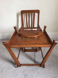 Antique Wood High Chair Old Wooden High Chair With Wheels Home Chair Decoration