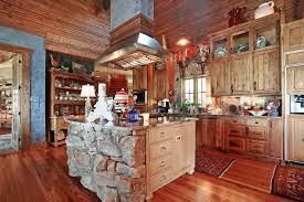 Cabin Kitchen Designs Log Cabin Kitchen Cabinets Great Home Design