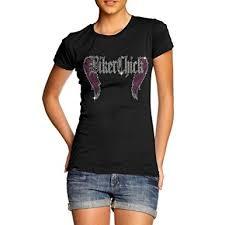 amazon com women u0027s biker rhinestone crystal diamante gem t