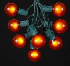 amber satin g50 7 watt replacement bulbs 25 pack novelty lights inc