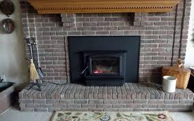 fireside pros regency liberty insert with custom brick fireplace