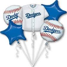 balloon arrangements los angeles dodgers los angeles baseball foil balloon bouquet