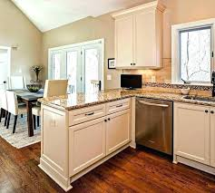 kitchen with island and peninsula kitchens with peninsulas photos transitional kosher kitchen with