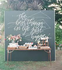 wedding backdrop chalkboard sweet colorful san diego wedding paul