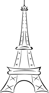 eiffel tower drawing simple kids dromggo clip art clipartix