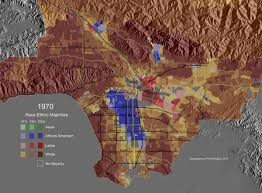 Map Los Angeles Race Ethnic Majority Map Los Angeles County 1940 Highlighting