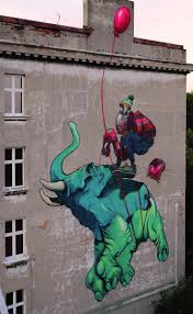 767 best street images on pinterest street art street art flying elephant balloon street art graffiti wall painting poland polish etam cru bezt sainer
