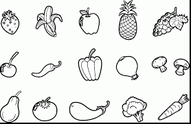 marvellous photo gallery of fruits and veggies coloring pages at