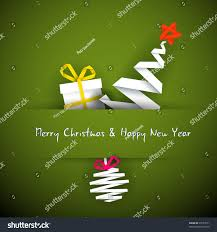 simple vector red christmas card gift stock vector 90153571