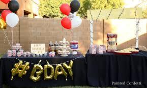 Backyard Movie Party by Backyard Movie Night Birthday Party Painted Confetti