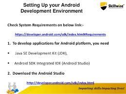 developer android sdk index html skillwise android