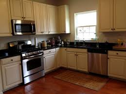 Small Kitchen Lighting Ideas by Kitchen Cabinet Antique White Cabinets Black Granite Small