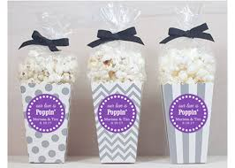popcorn favors 12 custom popcorn box favors wedding favors personalized