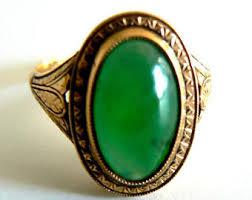 deco jadeite ring etsy