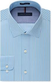 tommy hilfiger slim fit non iron color ground stripe dress shirt