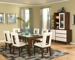 White And Black Dining Room Sets by Rectangle Light Gray Rug With Black Line Accent Placed Under