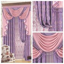 Pink And Purple Curtains The Blind Luxury Fashion Classical Pink Dodechedron Purple