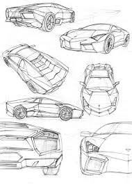 lamborghini drawing lamborghini drawings side