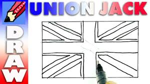 how to draw the british flag realeasy union jack youtube