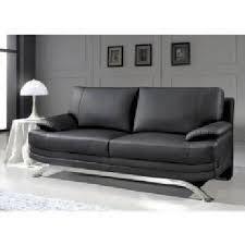canapé cuir noir 3 places canapé cuir noir 3 places romeo achat vente canapé sofa