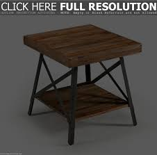 Rustic Round End Table Round End Table Metal Legs Home Table Decoration