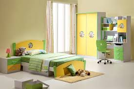 bedroom unique children furniture idea with yellow wardrobe and