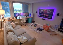 How To Arrange Furniture In A Small Living Room by Top 25 Best Gaming Room Setup Ideas On Pinterest Gaming Setup