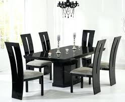 Dining Room 7 Piece Sets Dining Table And 6 Black Leather Chairs Glass Extending 4 7 Piece