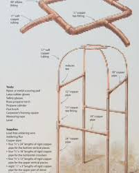 how to build an archway trellis build a copper pipe trellis fine gardening