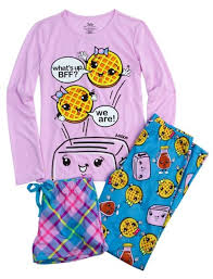 justice size 14 bff waffles 3 pajama set sets