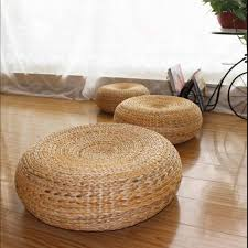 yoga mat meditation cushions rattan ottoman stool traditional