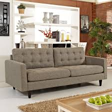 Tufted Upholstered Sofa by Modway Empress Upholstered Sofa Walmart Com
