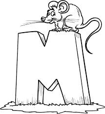 mouse free alphabet coloring pages alphabet coloring pages of
