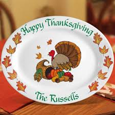 personalized thanksgiving turkey platter 16 5 oval