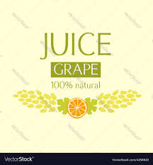 editable fruit editable label template or logo for fruit juice vector image