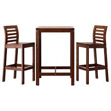 High Table Patio Furniture äpplarö Bar Table And 2 Bar Stools äpplarö Brown Stained Ikea