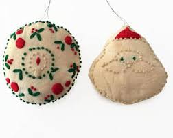 vintage ornaments handmade etsy